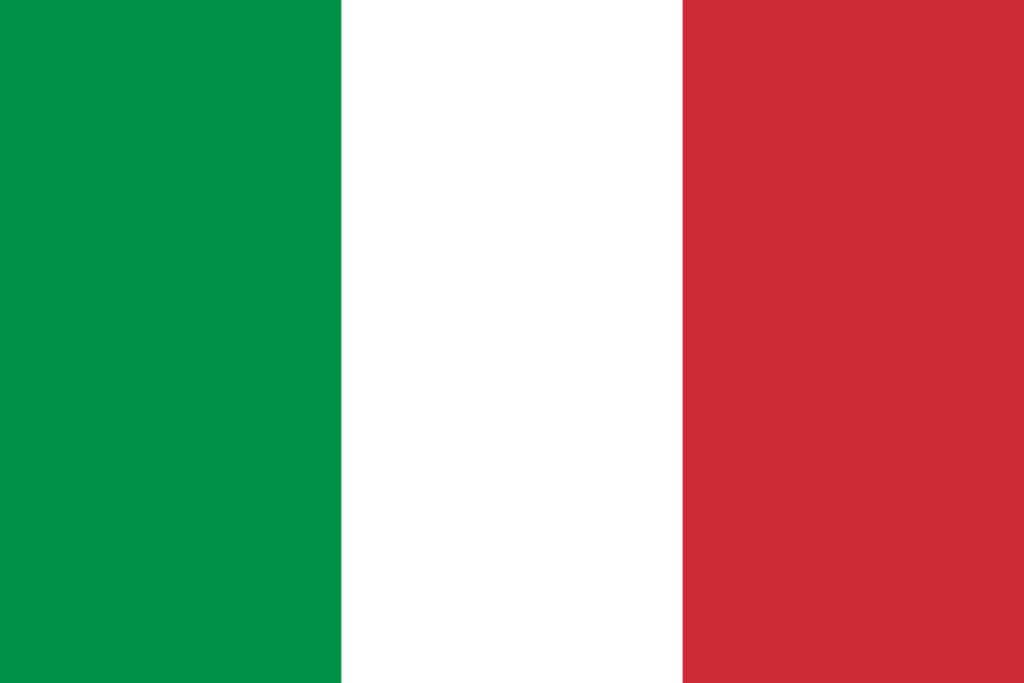 Italienische Flagge (zum Sprichwort über Gleichheit)